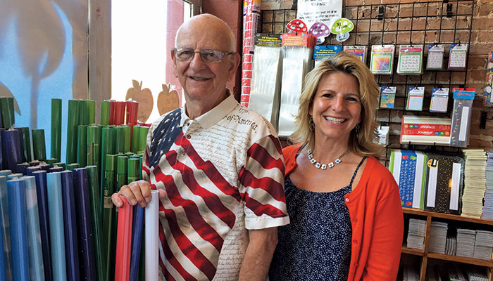 Belinda Carucci and father Ray Carucci, a regular fixture in the store, is beloved by staff and customers alike.